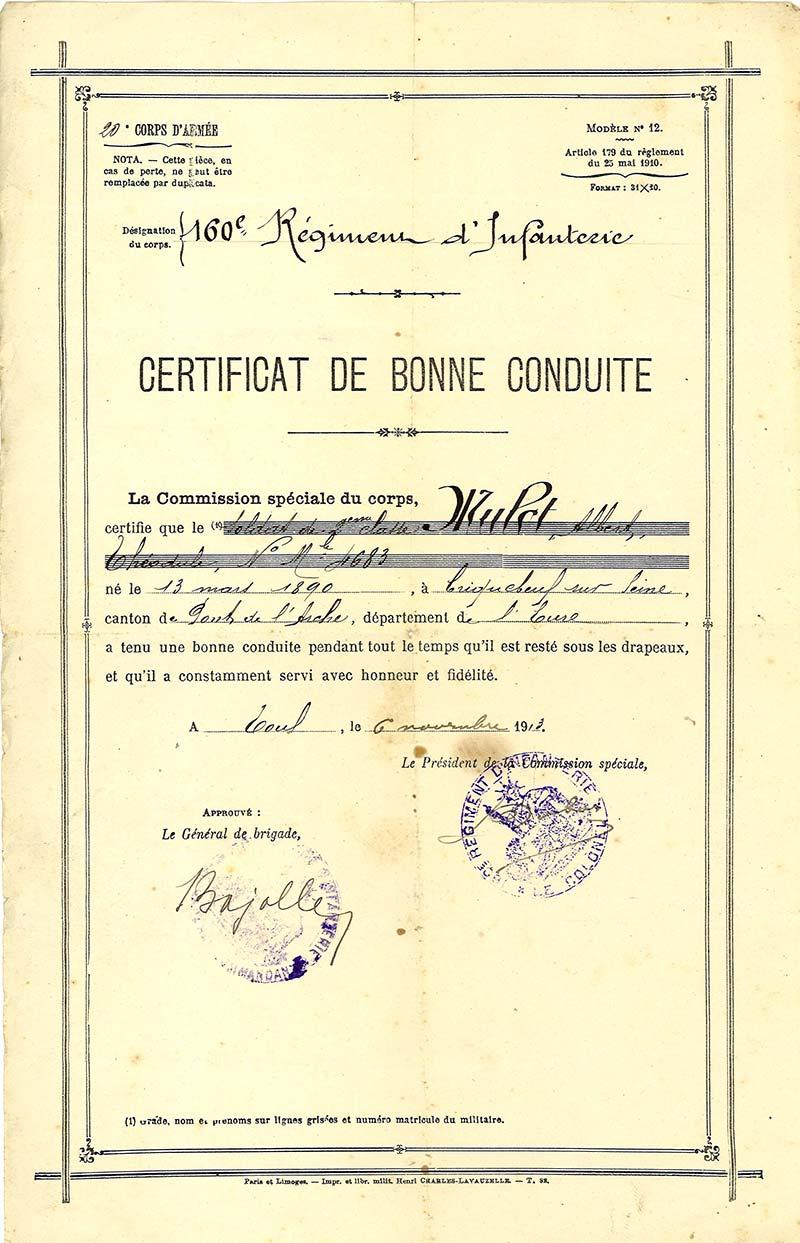 Parcours de poilus albert th odule mulot lanarium - Certificat de conformite maison obligatoire ...