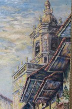 daniel-benne-peintre-tableau-clocher-Hondarribia-Fontarrabie-02