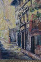 daniel-benne-peintre-tableau-clocher-Hondarribia-Fontarrabie-03